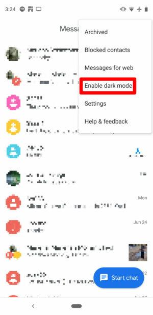 Ativar o modo noturno no Messages leva poucos segundos