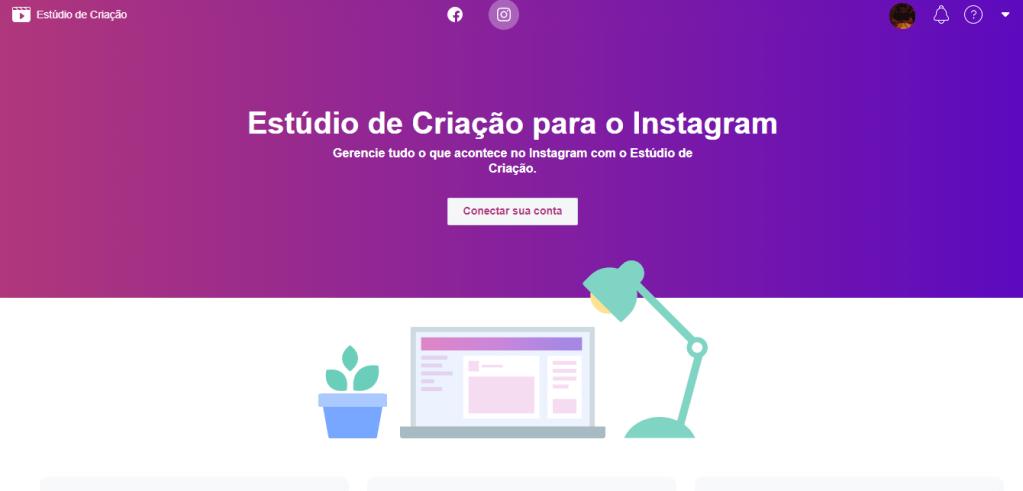 Estúdio de criação para o Instagram disponível