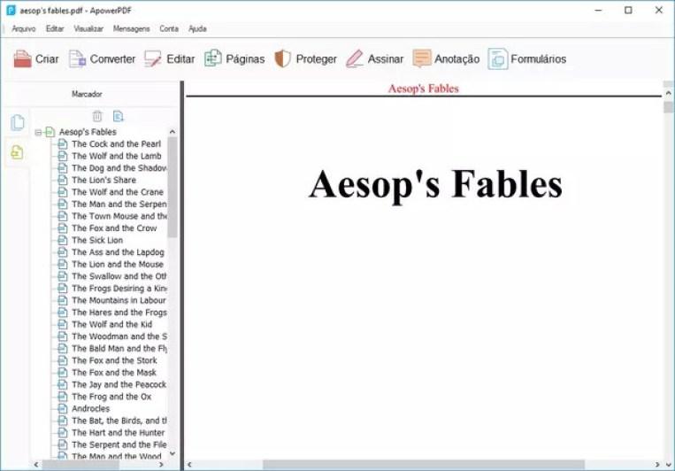 O ApowerPDF permite criar arquivos PDF do zero