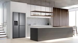 Os refrigeradores Side by Side RS65 chegam na cor inox look, o que combina com muitos tipos de cozinha