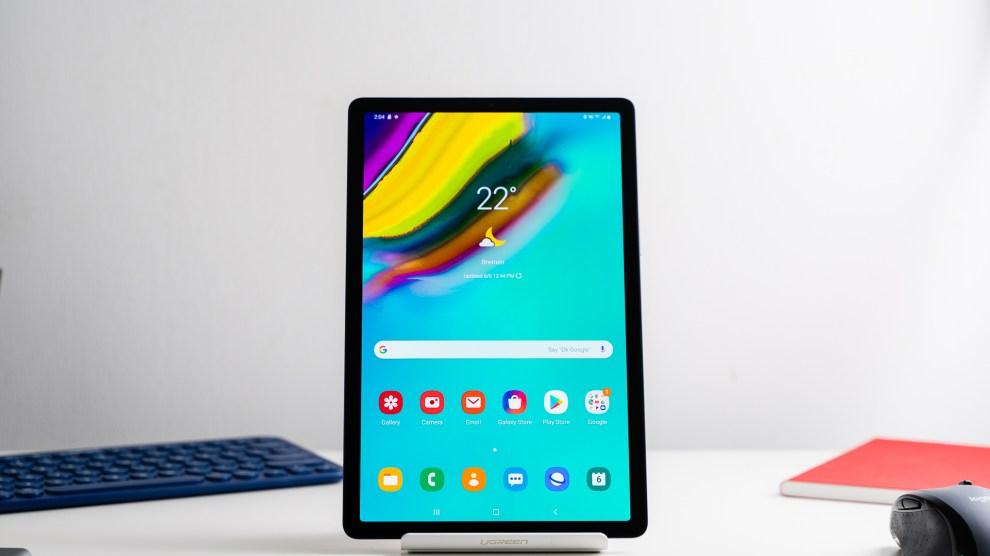 foto destacada do Galaxy Tab S5e