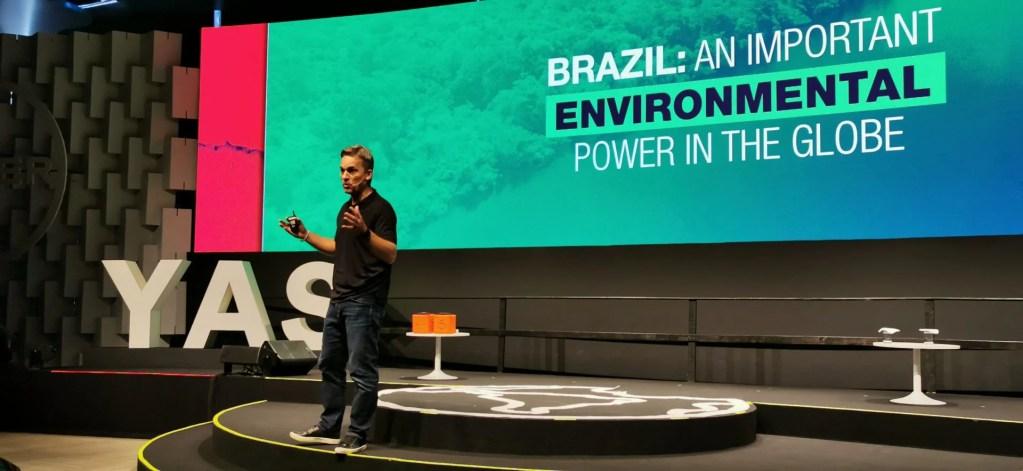 Rodrigo Santos, head da Divisão Crop Science da Bayer para América Latina durante a abertura do Youth Ag Summit