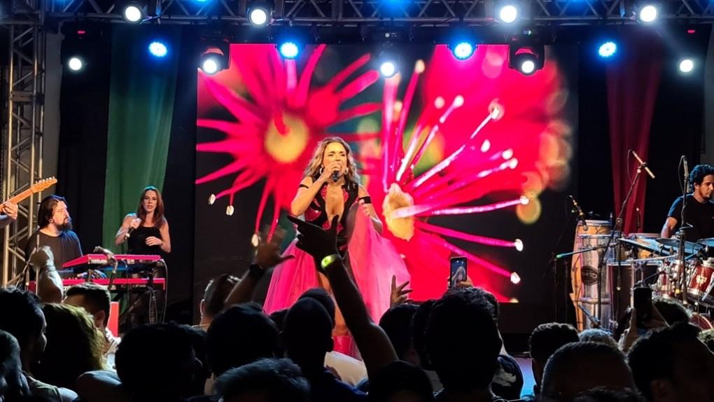 Show da Daniela Mercury fotografado com o Galaxy S20 Ultra