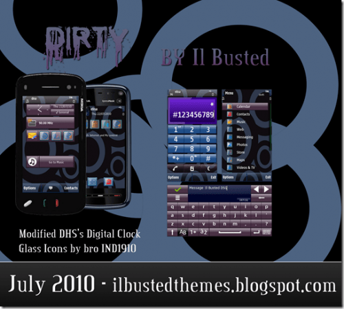 Nokia Dirty Theme tema s60 5th 500x450 - Tema: Dirty para celulares Nokia