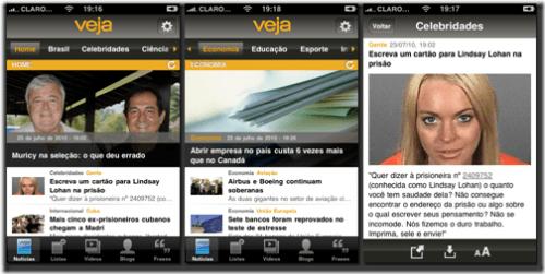 veja telas 01 thumb 500x251 - Novo aplicativo: Revista Veja para iPhones e iPads
