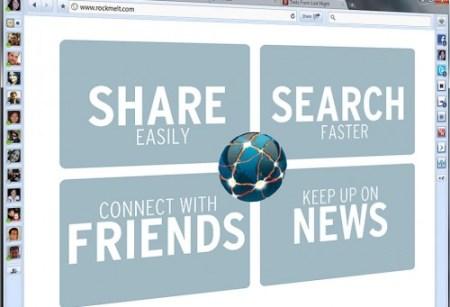 Rockmelt 500x341 - RockMelt: um navegador com Twitter e Facebook integrados