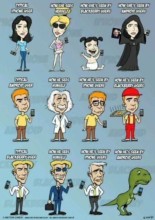 wpid c section comics iphone vs android vs - Humor: iPhones vs. Androids vs. Blackberries