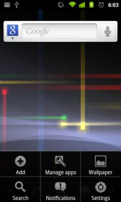 home menu 300x500 - Gingerbread UI: detalhes e imagens da nova interface do usuário