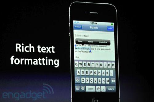 apple wwdc 2011 mail 500x332 - Conheça as novidades do iOS 5 para iPhone 3GS e 4, iPad 1 e 2 e iPod Touch 3G e 4G