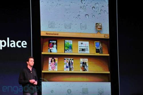 apple wwdc 2011 newsstand 500x332 - Conheça as novidades do iOS 5 para iPhone 3GS e 4, iPad 1 e 2 e iPod Touch 3G e 4G