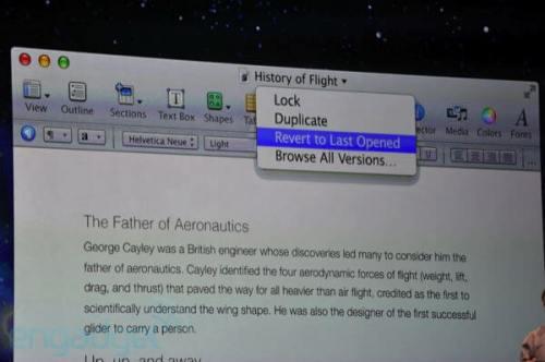 Apple WWDC 2011: Mac OS X Lion 10