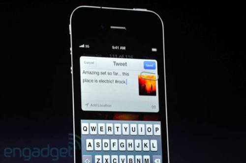 apple wwdc 2011 twitter 500x332 - Conheça as novidades do iOS 5 para iPhone 3GS e 4, iPad 1 e 2 e iPod Touch 3G e 4G