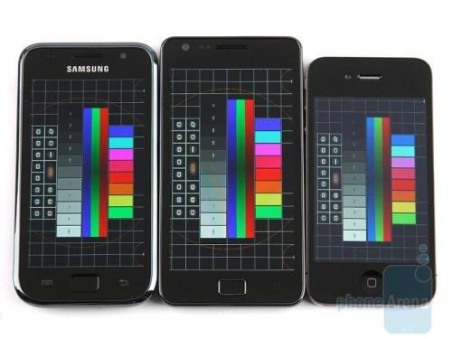 super amoled plus vs retina display 111 500x375 - Review: Samsung Galaxy S II (GT-I9100 - avaliado pela Anatel):