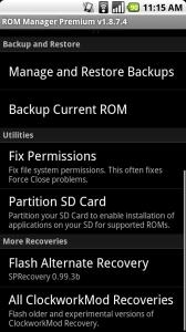 """Nandroid 168x300 - Dicionário Básico do """"Mod"""" para Android - Recovery CWM / Nandroid"""