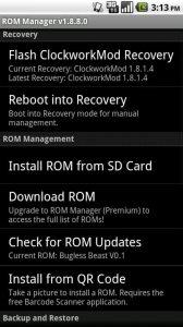 """RomManager1 168x300 - Dicionário Básico do """"Mod"""" para Android - Recovery CWM / Nandroid"""