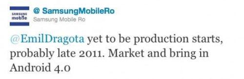 SamsungRomaniaTweet2ConfirmProduction 550x180 500x163 - Nexus 3 é confirmado pela Samsung Mobile da Romênia
