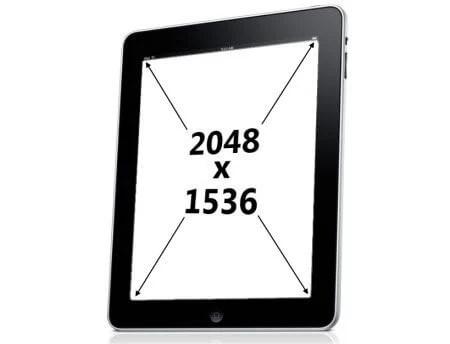 ipad 3 retina display - Apple estaria testando displays 2048 x 1536 para o próximo iPad