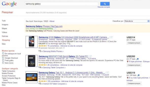 Google Shopping estréia no Brasil 5