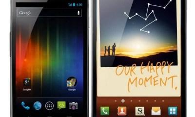Samsung Galaxy Nexus Galaxy Note Android vs. x - Samsung Galaxy Nexus vs. Galaxy Note