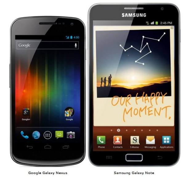 Samsung Galaxy Nexus Galaxy Note Android vs. x 610x580 - Samsung Galaxy Nexus vs. Galaxy Note