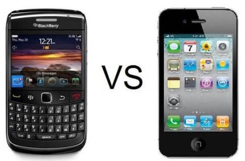 bb9780vs iphone4 - iPhone supera Blackberry em vendas até no Canadá