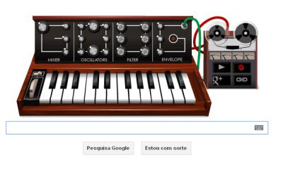 doodle - Google homenageia pai do sintetizador