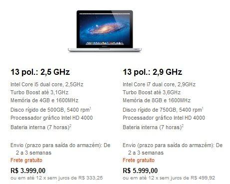 macbook pro 13inches - Apple lança novo MacBook Pro com retina display