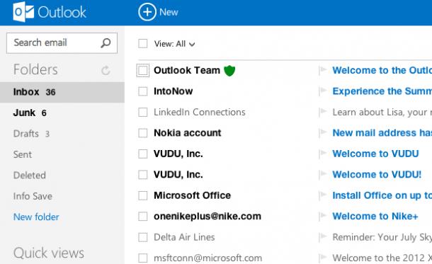 New outlook 610x373 - Microsoft apresenta o sucessor do Hotmail