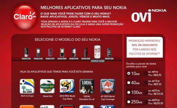 nokia claro 610x371 - Claro e Nokia firmam parceria para a compra de aplicativos