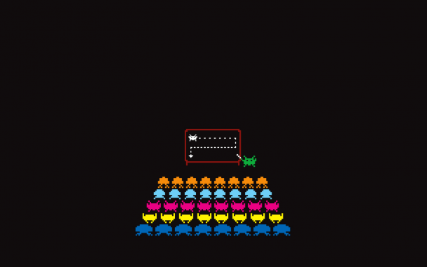 space invaders school 610x381 - 10 ótimos Papéis de Parede Geeks para o seu desktop