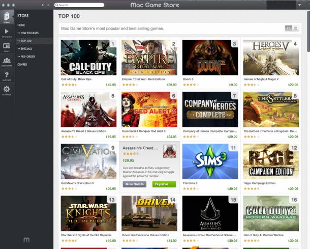 MacGameStore 610x489 - Mac Game Store é a melhor opção para games no OS X