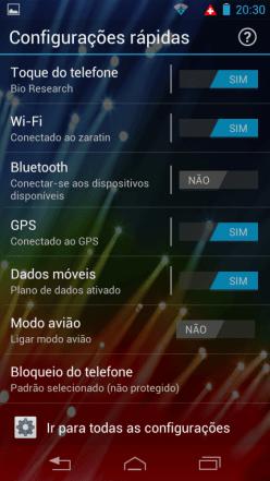 Razr HD - Configurações