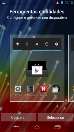 razrhd launcher01 562x1000 - Review: Razr HD - primeiro telefone 4G do Brasil