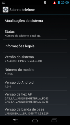 Razr HD - Versão Android 01