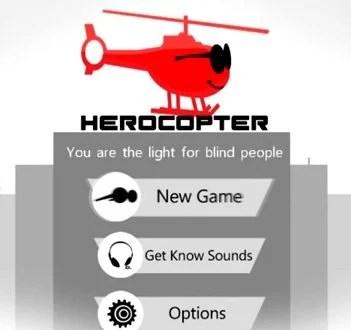 videojuego ciegos - Review: Herocopter - um jogo para quem não pode ver