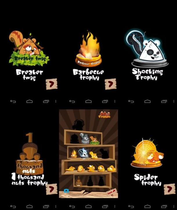 screenshots trofeus 800 610x722 - Game Review: Mad Squirrel para iPhones e Androids