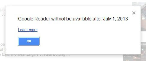 Fim do Google Reader
