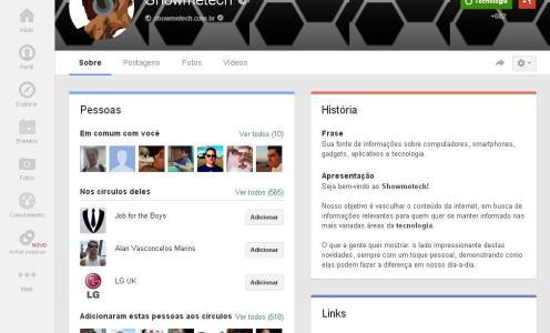 Google+ Showmetech