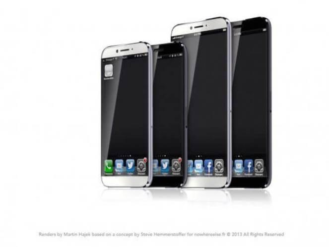 O designer Martin Hajek imaginou o iPhone conceito em dois tamanhos diferentes.