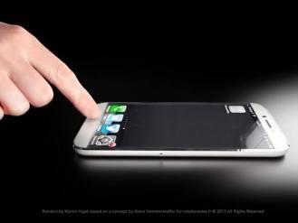 O botão home foi trocado por um invisível, como nos trackpads de MacBooks.