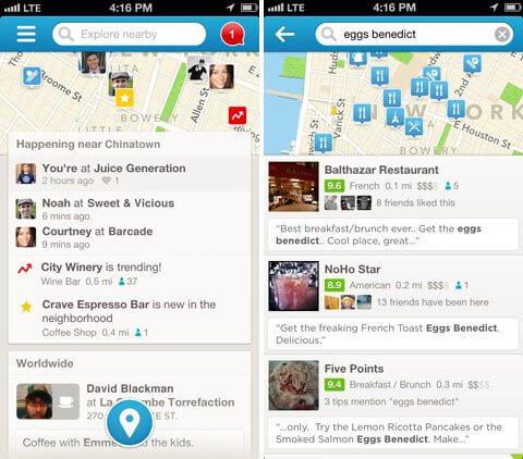 4sq 20131 - Foursquare é atualizado com novo visual
