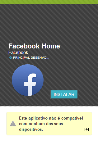 FacebookHome Indisponivel - Facebook Home disponível na Play Store