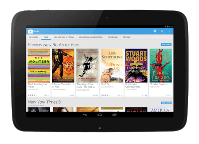 Play Books Home Tablet  - Google Play com novo design a partir de hoje