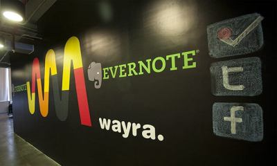 Wayra Wall - Evernote e Wayra anunciam parceria global para apoio de startups