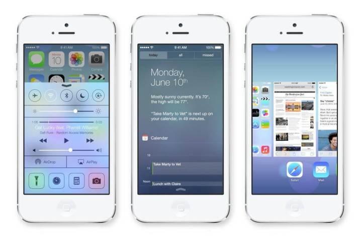 apple ios 7 iphone 51 720x483 - Ícones do iOS 7 são criticados na internet