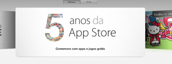 Apple comemora 5 anos de App Store
