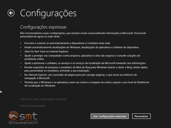 Configurações 720x540 - Windows 8.1: Primeiras Impressões