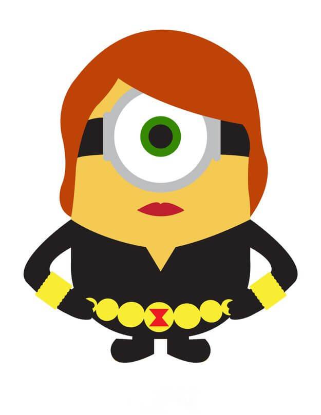 Minion black widdow