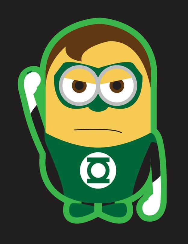 Minion the green lantern - Minions ganham versões de super-heróis da Marvel e DC