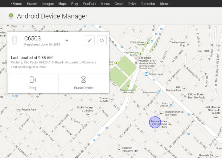 Android Device Manager1 720x513 - Localizador de Dispositivos Android já é acessível. Veja através deste link